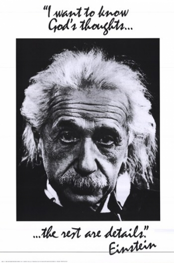 Einstein-God's Thoughts Poster Print (24 x 36)